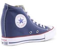 Converse All Star Chuck Taylor Lux Mujeres Cuña Zapatillas Azul Marino Talla 5 Hitop BNWOT