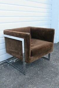 Mid Century Modern Chrome Living Bed Room Side Chair 2304