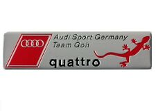 AUDI SPORT GERMANY QUATTRO TEAM BADGE EMBLEM METAL BOOT A3 A4 A5 A6 A8 S3 S4 S6