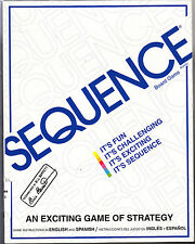 """SEQUENCE AN EXCITING GAME of STRATEGY by JAX, LTD #8002  """"UNSEALED"""""""