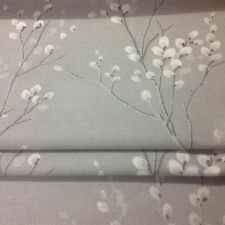 Roman Blinds Made With Laura Ashley Pussy Willow Steel Fabric Ivory Blackout Lining 10cm X 6cm
