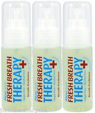3 X 30ml Aloe Dent Ambientador de Aerosol Terapia de aliento fresco (Alcohol & sin azúcar)