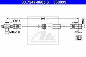 Flexible de frein VW CC (357) PASSAT (3C2) PASSAT  (3C2) PASSAT CC (357) PASSAT