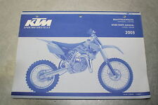 KTM 2003 Spare Parts Manual Handbook Chassis + Engine 85 SX OEM 3.208.80