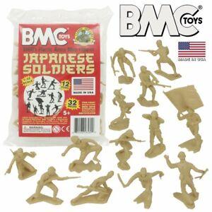 BMC Classic Marx WW2 Japanese Plastic Army Men - Tan 32pc Figure Set