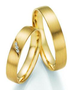 !!AKTION!! Paar Eheringe Trauring aus Gold mit Diamant + Echtheitszertifikat
