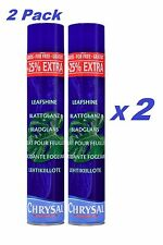 "2 Pk Chrysal Leafshine 25oz aerosol ""Bonus Size"" 25% more Leaf Shine spray can"