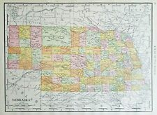 Rand McNally 1916 Antique Map of Nebraska