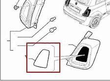 PLACCHETTE MODANATURA FANALE POSTERIORE dx sx POST.  FIAT 500 2015>DA VERNICIARE