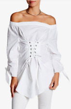 Lea & Viola Off-the-Shoulder Corset Tunic White XL NWT $148