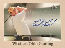 2004 Upper Deck SP Fred Funk #FF Sign Of The Times Auto Autographed Card