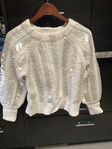 $695 Veronica Beard Sequined Sweater - NEW!