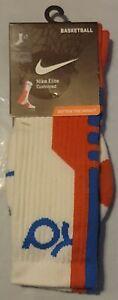 Nike Men's Elite KD Cushioned Basketball Socks White SX4736 184 Size 8-12 Large