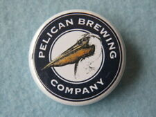 BEER BUTTON Pinback ~ PELICAN Brewing Company ~ Pacific City, OREGON Coast