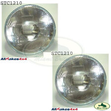 "LAND ROVER FRONT HEAD LAMP LIGHT SEALED BEAM 7"" x2 RR CLASIC DEF 90 STC1210 ALLM"