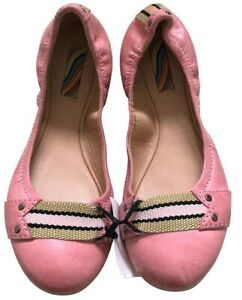 Women Pink Ballerina Style leather flat Shoes UK 4 EU 37  Paul Smith