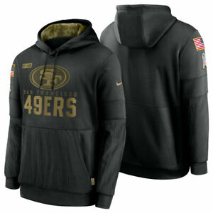Authentic Nike San Francisco 49ers Men's 2020 NFL Salute to Service Hoodie Black