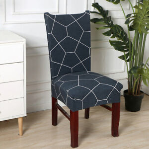 Elastic Chair Seat Cover Solid Stretch Waterproof Dining Chair Covers DP