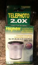 Raynox DVR-2020 Telephoto Conversion Lens for 27,30,30.5,37,43&49mm filter