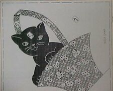 Vintage Quilt Pattern Kitten Kitty Cat in Basket Applique Quilters Sewing Craft