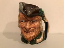 """Vintage Royal Doulton Character Jug Robin Hood D6534 Small 4"""" 1959 Rare!"""