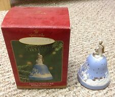 Hallmark 2001 Christmas bell ornament Journey To Bethlehem complete in box.