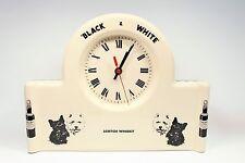 Black & White Scotch Whisky CLOCK Scottie Westie Scottish Terrier Scotty England
