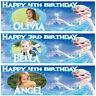 2 personalised birthday banner photo frozen children nursery kid party poster