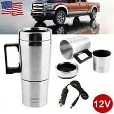 500ML Electric Water Kettle Stainless Steel Heating Coffee Tea Cup Car Outdoor