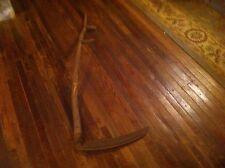 Antique Vintage Scythe/seymour Wood Handle Farm Tool