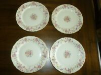 Thomas Ivory - Bavaria - Rose Gold Trimmed China - 4 Bread & Butter plates  F/S!