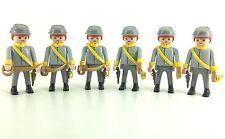 Playmobil 6 Western Figure Confederate States  Rare Accessories Civil War New 2