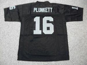 JIM PLUNKETT Unsigned Custom Black LA/Oakland Sewn New Football Jersey Sze S-3XL