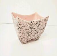 Vintage Pottery Planter Vase Pink Confetti Rectangular Unique Design McCoy?