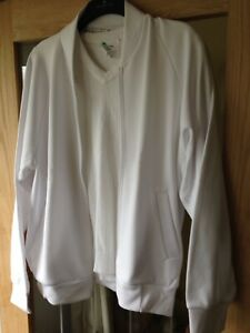 Emsmorn white fleece jacket size XXL Sports Bowls Cricket