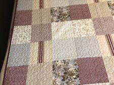 New Martha Stewart Quilt Cotton Farmhouse Patchwork King Soft Colors Squares