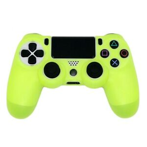 Soft Silicone Gamepad Controller Yellow Case Skin Cover For PS4 Playstation 4 UK