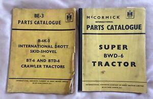 BE-3 (B-6K-3, BT-6 & BTD-6) & BWD-6 Parts Catalogues McCormick / Intl. Harvester