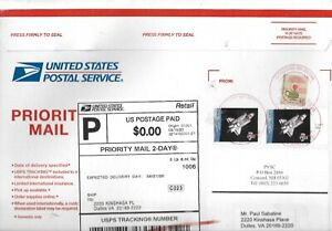 USA Six Priority Mail Covers Approximately $25 SCV