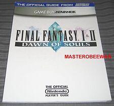 Game Boy Advance Final Fantasy I & II Dawn Of Souls New Guide Book + Fallout Map