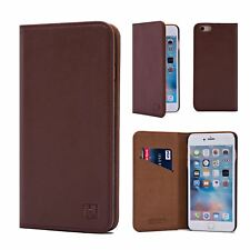 32nd Classic Series - Real Leather Book Wallet Case for Apple iPhone 6 & 6s Plus Dark Brown I6plus.32ndclassic-darkbrown