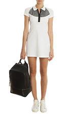 Monreal London Mesh Paneled Polo Collared Tennis Dress Size S $345