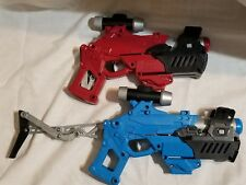 "Lot of 2 Spy Gear VIPER BLASTER 14"" Fully Expandable Shooter Blue Red"