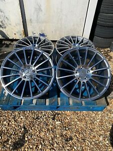 """19"""" Mercedes C63 AMG Style Alloy Wheels Only Grey/Pol for Mercedes C-Class W204"""