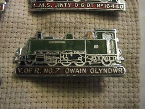 RARE OLD OWAIN GLYNDWR RAILWAY TRAIN ENAMEL BROOCH PIN BADGE
