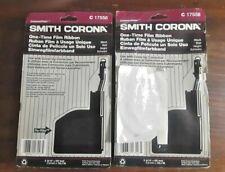 Smith Corona Typewriter Ribbon 2 Ct Lot C17558 Black Cartridge Vintage New