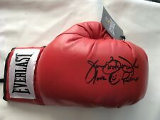 James Buster Douglas main signé Red Everlast Boxing Glove Proof COA