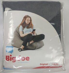"My Big Joe Original Gray Bean Bag Chair Cover 46"" W×58""L×30""D"