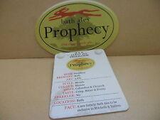 Bath Prophecy Ale Pump Clip face pub Collectible w/ Taste Note 53