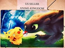 USA Seller Yugioh Playmat Play Mat Large Mouse Pad Pokemon Pikachu & dragon #556